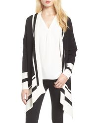 Anne Klein - Colorblock Open Cardigan - Lyst
