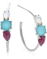 Ippolita - Rock Candy Prong Set 3-stone Hoop Earrings - Lyst