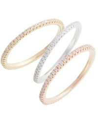 Nordstrom - Set Of 3 Pave Eternity Bands - Lyst