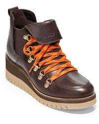 Cole Haan Zerogrand Waterproof Wedge Boot - Brown