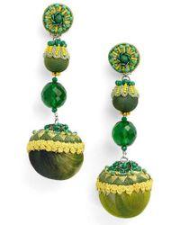 Ranjana Khan | Green Triple Drop Earrings | Lyst