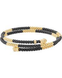 Lagos - Gold & Black Caviar Coil Bracelet - Lyst