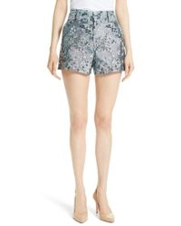 Alice + Olivia - Cady High Waist Floral Shorts - Lyst