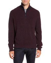 Zachary Prell - Fillmore Quarter Zip Sweater - Lyst