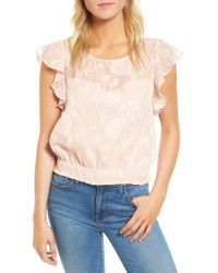 Cupcakes And Cashmere | Banyan Floral Burnout Top | Lyst