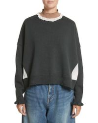 Undercover | Ruffled Mock Neck Sweater | Lyst