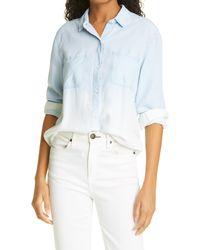 Rails Carter Button-up Shirt - Blue