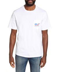 Vineyard Vines Surf Flag Pocket Graphic Tee - White