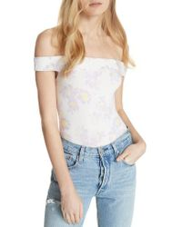 Free People - So Much Off The Shoulder Bodysuit - Lyst