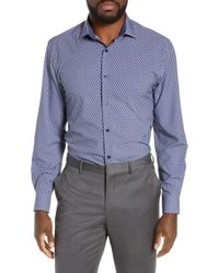 W.r.k. - Slim Fit Performance Stretch Check Dress Shirt - Lyst