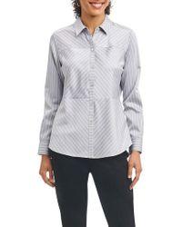 Foxcroft - Monica Non-iron Stripe Shirt - Lyst