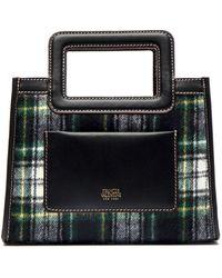 Frances Valentine Small Plaid Wool Tote - Black