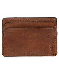Frye | Oliver Leather Card Case | Lyst