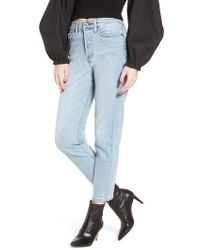 Levi's - Levi's Wedgie Icon Fit High Waist Crop Jeans - Lyst