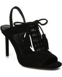 Diane von Furstenberg Arabella Tasselled Lace-up Sandal - Black