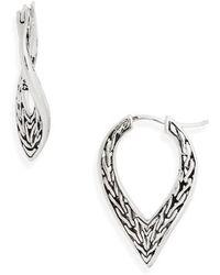 John Hardy - Classic Chain Small Hoop Earrings - Lyst