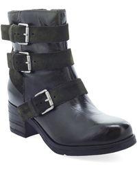 Miz Mooz Skye Buckle Boot - Black