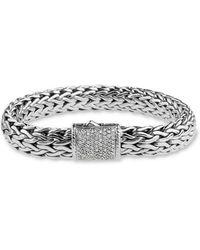 John Hardy - 'Kali' Silver Woven Bracelet - Lyst