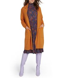 ModCloth Open Front Sweater Coat - Orange