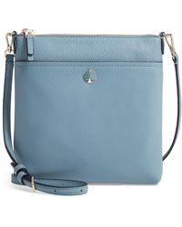 Kate Spade Small Polly Leather Crossbody Bag - Blue