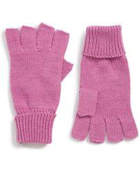 Trouvé Fingerless Gloves - Pink