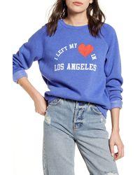 BP. I Left My Heart In Los Angeles Graphic Sweatshirt - Blue