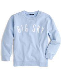 "J.Crew - ""big Sky"" Sweatshirt - Lyst"