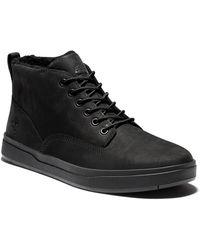 Timberland Davis Square Mid Top Chukka Sneaker - Black