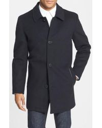 Vince Camuto | Water Repellent Wool Blend Car Coat | Lyst