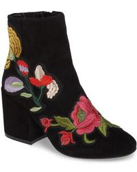 Kenneth Cole | Reeve 4 Floral Applique Bootie | Lyst