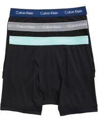Calvin Klein - 3-pack Stretch Cotton Boxer Briefs, Black - Lyst
