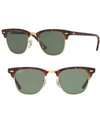 Ray-Ban - 'classic Clubmaster' 51mm Polarized Sunglasses - Lyst