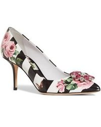 Dolce & Gabbana | Stripe Rose Pump | Lyst