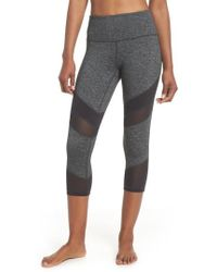 Zella | Live In Electric Mix Power Mesh Crop Leggings | Lyst