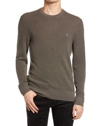 AllSaints Ivar Slim Fit Crewneck Wool Sweater - Multicolor