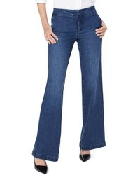 NYDJ Wide Leg Trouser Jeans - Blue