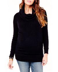 Ingrid & Isabel - Ingrid & Isabel Cowl Neck Maternity Sweater - Lyst