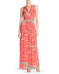 Fraiche By J - Tie Dye Ombre Jersey Maxi Dress - Lyst