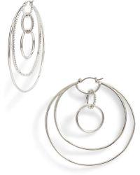 Vince Camuto - Large Pave Multi Hoop Earrings - Lyst