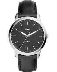 Fossil - The Minimalist Leather Strap Watch - Lyst
