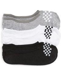 Vans - 3-pack Canoodle Checkerboard Socks, Black - Lyst
