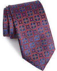 Canali Medallion Silk Tie - Red