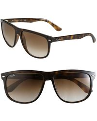 03da3891f671c Ray-Ban - Boyfriend 60mm Flat Top Sunglasses - - Lyst