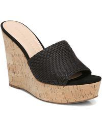 Veronica Beard Dali Woven Platform Wedge Sandal - Black