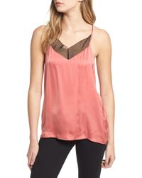 7 For All Mankind 7 For All Mankind Satin Camisole - Pink