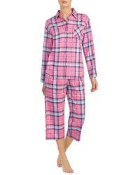Lauren by Ralph Lauren - 2-piece Plaid Pajamas - Lyst