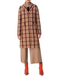Akris Punto Wool Blend Coat - Brown