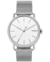 Skagen - Falster Automatic Mesh Strap Watch - Lyst
