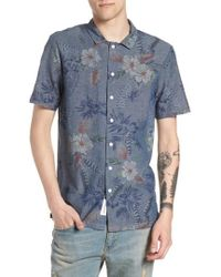 Native Youth - Floral Sketch Short Sleeve Sport Shirt - Lyst