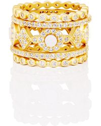 Freida Rothman - Signature Mother Of Pearl Stackable Rings - Lyst